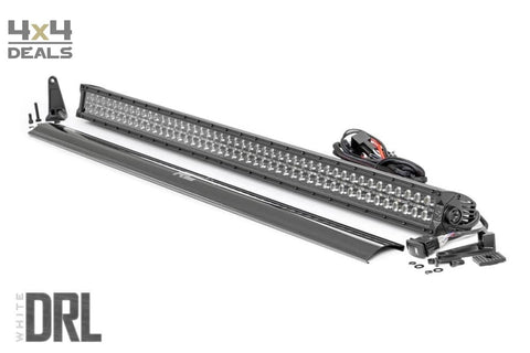 Rough Country Black Double Row ledbar DRL 50 Inch | Rough Country Black Double Row DRL barre LED 50 Inch