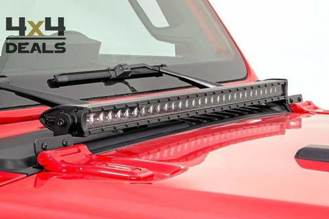 Rough Country Single Row Black ledbar 30 Inch voor Jeep Gladiator JT | Rough Country Single Row Black barre LED 30 Inch pour Jeep Gladiator
