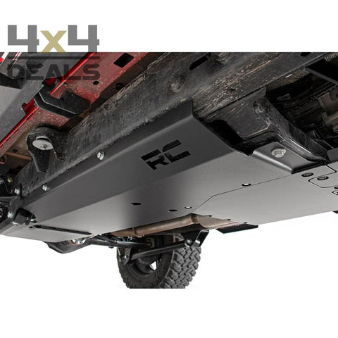 Rough Country skidplate set voor Jeep Wrangler JL 4-deurs | Rough Country ski de protection pour Jeep Wrangler JL 4 portes