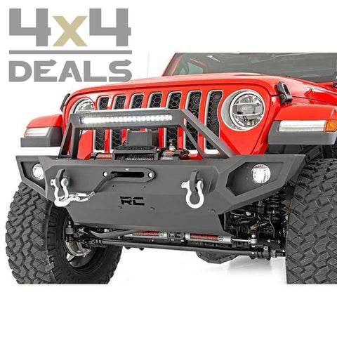 Rough Country Voorbumper Full Trail Voor Jeep Gladiator Jt | Pare-Chocs Avant Pour > 2 Weken /