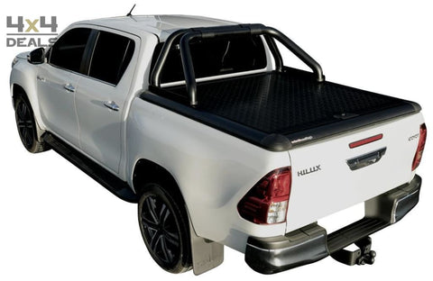 Upstone Black roll bar 76mm voor Toyota Hilux Double Cab (2016+) | Upstone Black roll bar 76mm pour Toyota Hilux Double Cab (2016+)