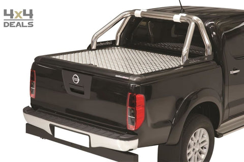 Upstone Inox roll bar 76mm voor Nissan Navara D40 Double Cab | Upstone Inox roll bar 76mm pour Nissan Navara D40 Double Cab