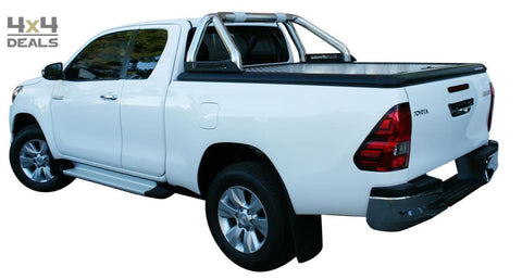 Upstone Inox roll bar 76mm voor Toyota Hilux Double Cab (2016+) | Upstone Inox roll bar 76mm pour Toyota Hilux Double Cab (2016+)
