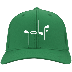 Green Port Authority with Abstract Golf image Flex Fit Cap
