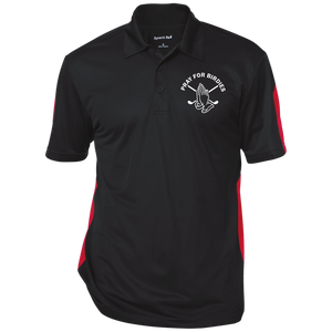 Performance Textured Men's Golf Polo Shirt