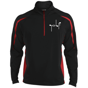 Black and red stripe pullover