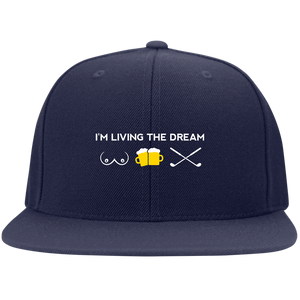 Living the Dream Flat Bill Snapback Hat
