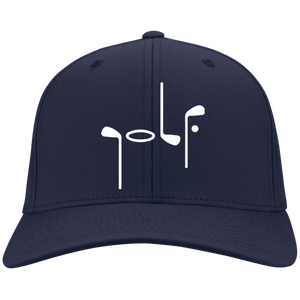 Navy Port Authority with Abstract Golf image Flex Fit Cap