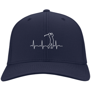 Golfers Heartbeat Flex Fit Cap