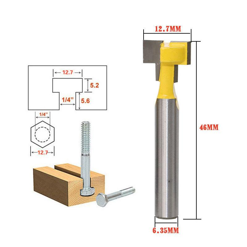 1/4 Shank T-Slot Cutter Router Bit 1/4 Hex Bolt