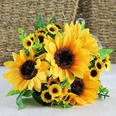 1 Bouquet Lifelike Artificial Sunflower Artificial Plastic Sunflower