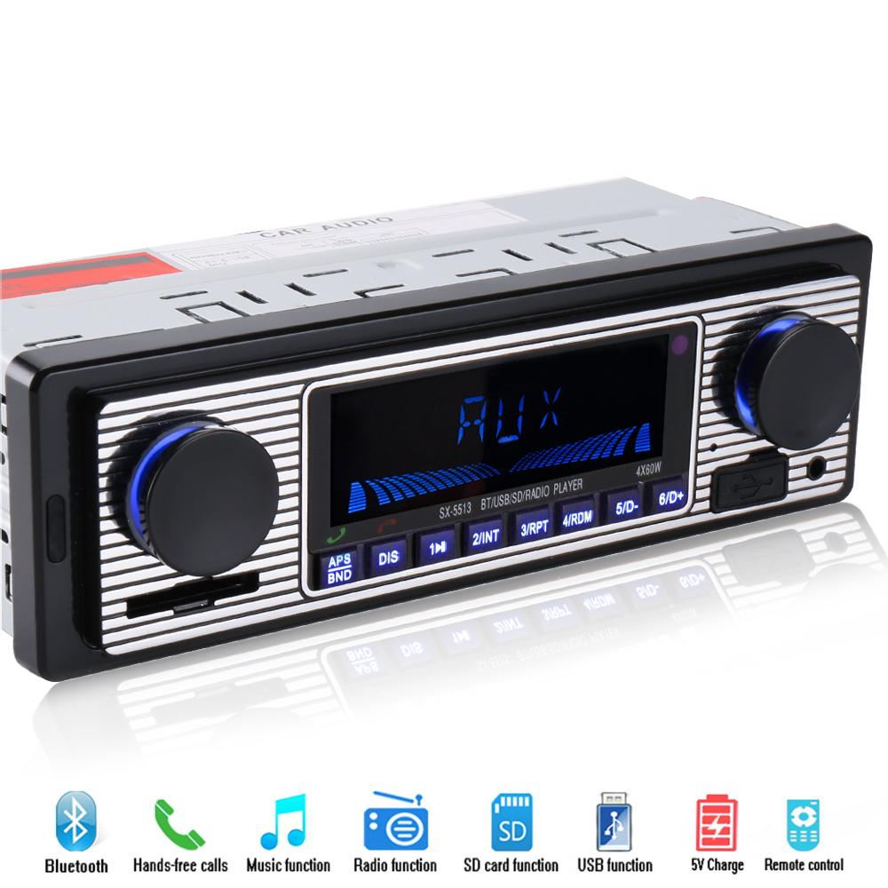 1 din Bluetooth Car Radio Player Stereo 12V FM MP3 USB SD AUX car Audio Player Auto Electronics autoradio Automobiles In-dash