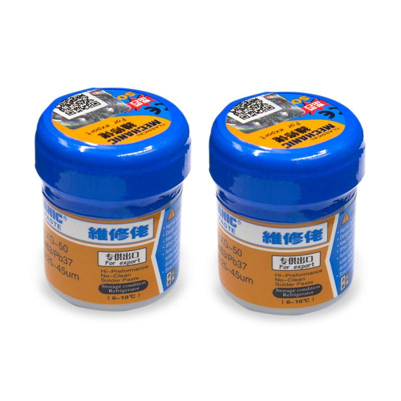 HK MECHANIC Sn63/Pb67 Solder Paste Flux XG-50 For soldering iron Hakko 936 Saike 852D repair tool 2pcs/lot