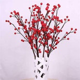 100Pcs/Lot Artificial Berry Artificial Red Holly Berry Berries 10mm