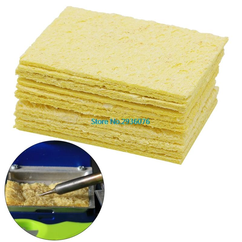 10Pcs Yellow Cleaning Sponge Cleaner fr Enduring Electric Welding