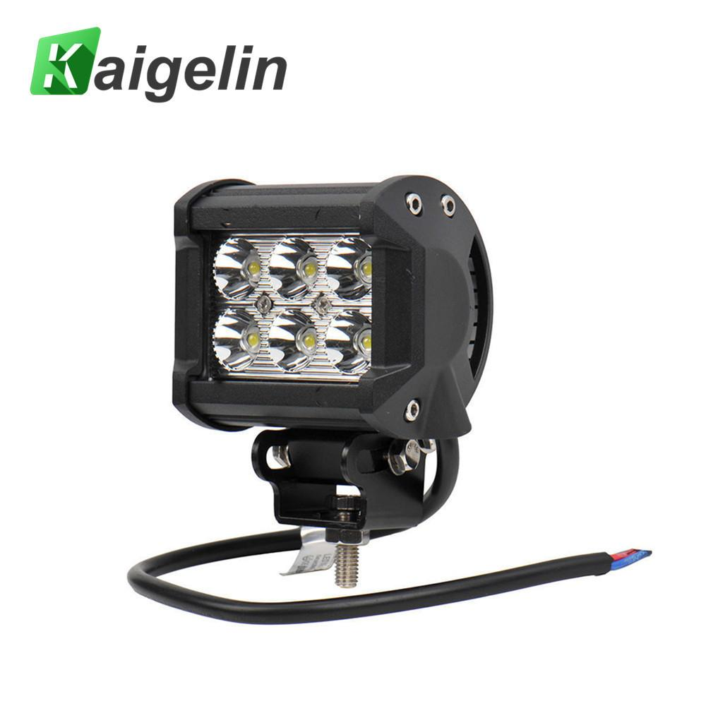 18W Spotlight IP65 4 Inch LED Work Light Bar For Indicators Motorcycle