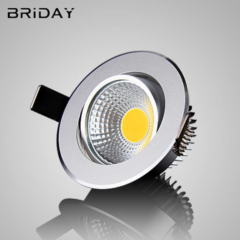 1pcs Super Bright Dimmable Led downlight light COB Ceiling Spot