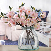 Artificial 3 Branchlets High-end Simulation Cherry Blossoms Plant