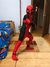 CaGiPlay Spandex Cosplay Halloween Party Deadpool Costume Kids & Adult
