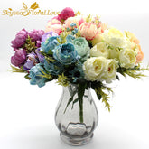 High Artificial Flowers Silk Flowers mini Peony Fake Flowers home