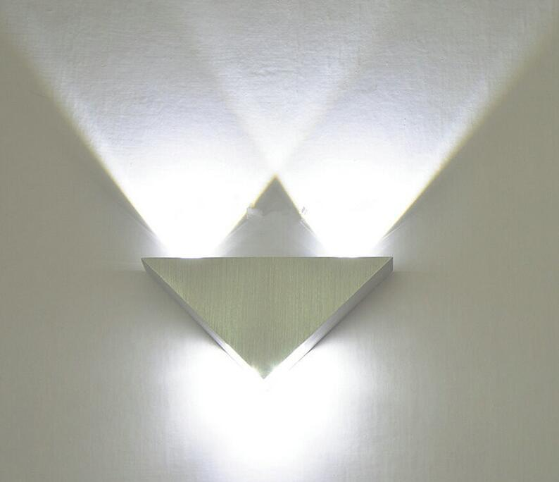 Modern Led Wall Lamp 3W Aluminum Body Triangle Wall Light For – Blue ...