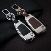Zinc Alloy+Leather Car Key Cover Case For Audi A1 A3 A4 A5 Q3 Q5 Q7 A6