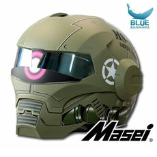 MASEI Matte Dumb Green Zach NEW style 610 motorcycle helmet IRONMAN Iron Man helmet open face helmet casque motocross