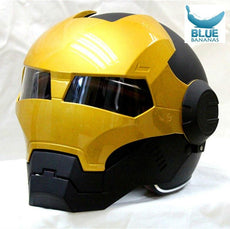 Black/ Gold MASEI IRONMAN Iron Man helmet motorcycle helmet s wos half helmet open face helmet 610 ABS casque motocross