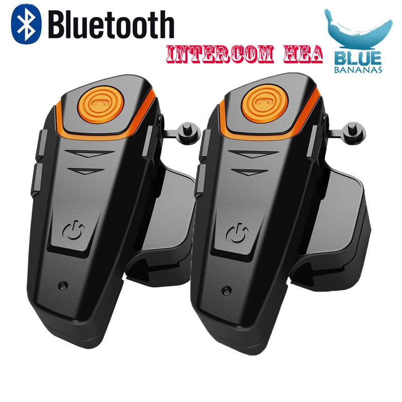 2 pcs Waterproof Motorccle Moto Wireless Bluetooth Helmet Intercom