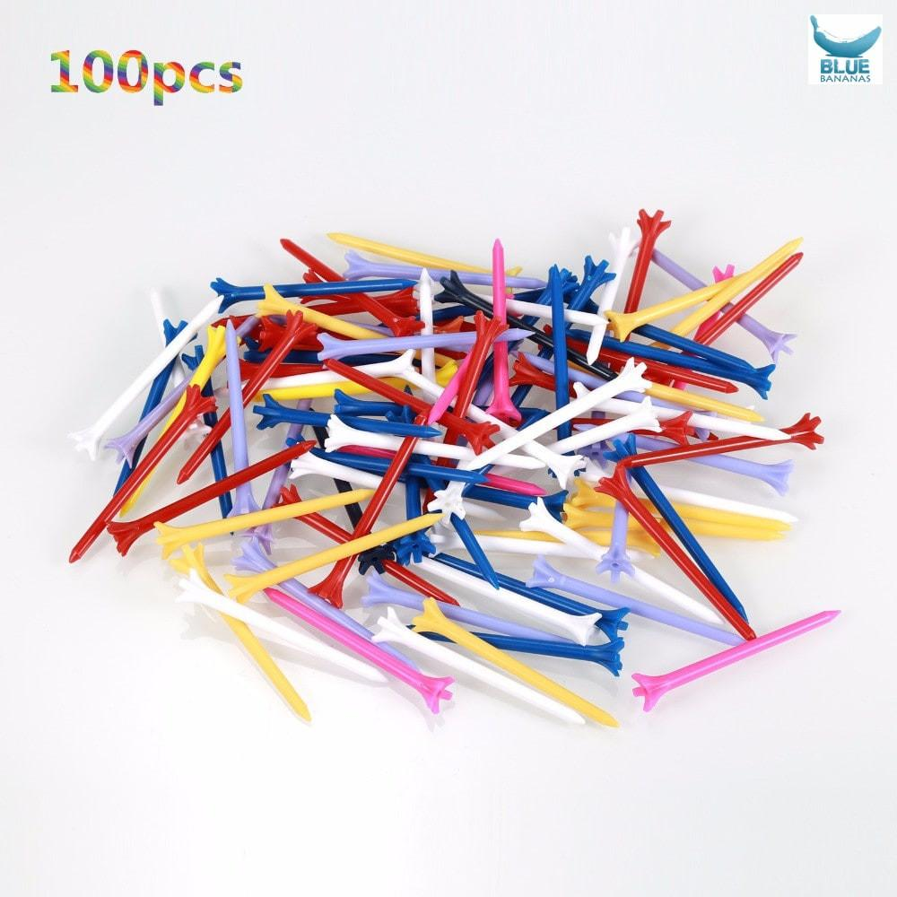 100 Pcs/Pack Professional Zero Friction 5 Prong 83mm Durable Plastic