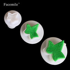 3pcs/set Fondant Tools Ivy Leaf Sugarcraft Cutters Cake Decorating