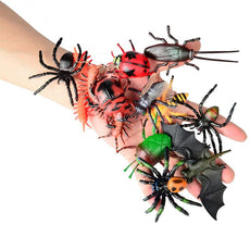 12pcs BOHS Children Toys Chameleon Centipede Spider Beetle Insect Scorpion Toy Animal Collection Models Action Figures