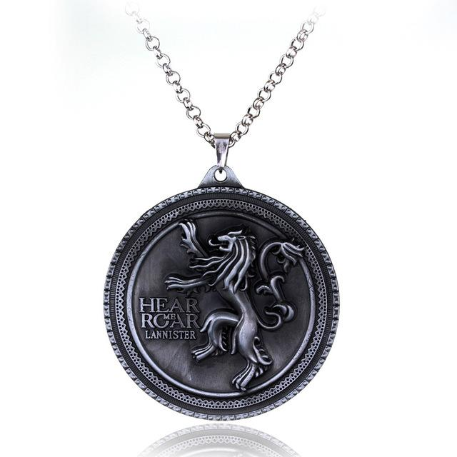 19 stles HBO Game of Thrones necklace House Stark Is Coming Bronze 2