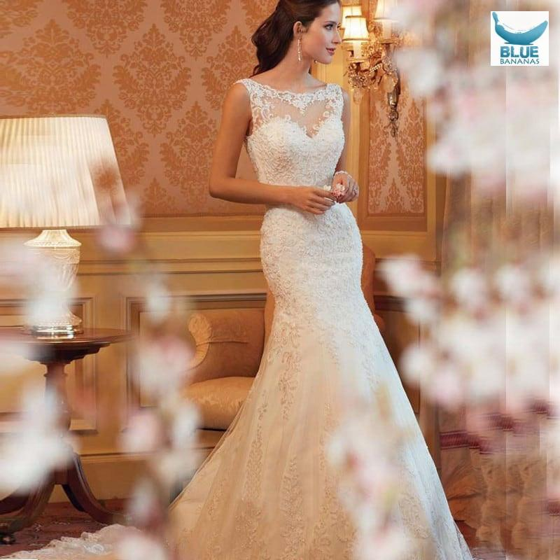 Cheap Lace Mermaid Wedding Dress Countr Western Wedding Dresses de