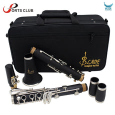 Clarinet ABS 17 Ke bB Flat Soprano Binocular Clarinet with Cleaning