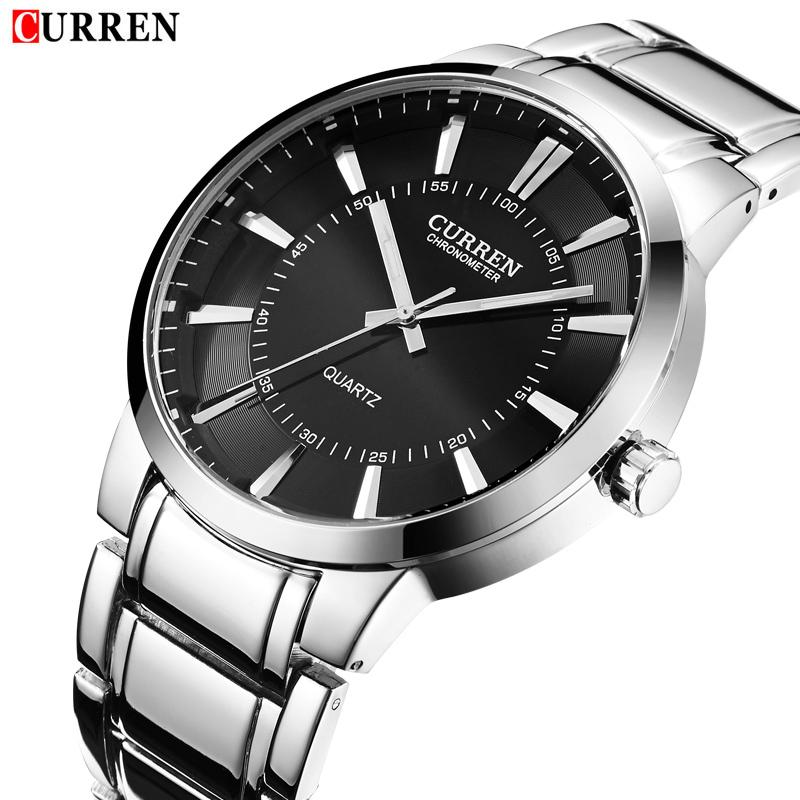 Hot Design Curren Sports Watches Full Steel Quartz Analog Military