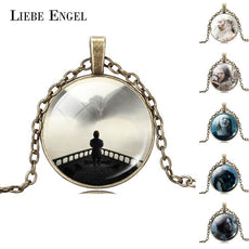LIEBE ENGEL 10pcs Mix Game of Thrones Necklaces & Pendants Glass Jewelry Vintage Color Statet Choker Necklace