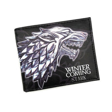 PU Leather Wallet Game of Thrones Short Wallets With Card Holder And Purse Cartoon Wallet Dollar Price