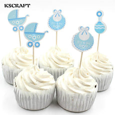 KSCRAFT Baby Wagon Party cupcake toppers picks decoration Kids