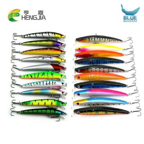 20 Pcs/pack Mixed 2 Fishing Lures Set Minnow Fishing Wobblers