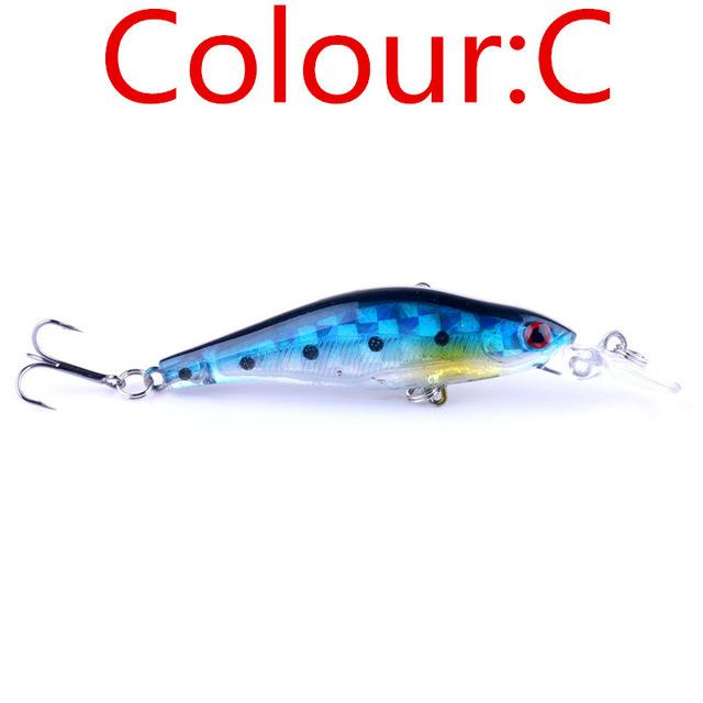 1PCS Laser Sinking Slowly Minnow Fishing Lure 8.5CM 6.5G Wobbler