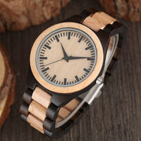 Hot Wrist Watch Nature Wood Fashion Bamboo Handmade Full Wooden Band Fold Clasp Simple Quartz 2018 New Arrival Analog
