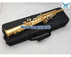 Soprano Saxophone B flat plaing professionall one straight Top Musical