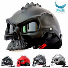 Masei 15 color 489 Dual Use Skull Motorcycle Helmet Capacete Casco Novelty Retro Casque Motorbike Half Face Helmet