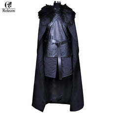 Rolecos American TV Series Game of Thrones Cosplay Costume Jon Snow Cosplay Knight Role Play Costume Halloween