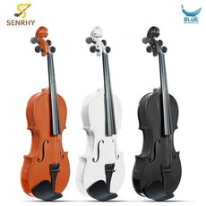 4/4 Violin Natural Acoustic Basswood Face Board Violin Aluminium