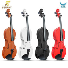3/4 Violin Natural Acoustic Basswood Face Board Violin Aluminium