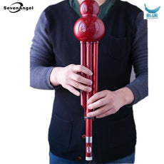 Improved Bass D Ke Hulusi Flute Imitate wood grain ABS Material Folk
