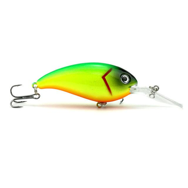 1pcs Crank Fishing Lure Hard Swimbait Pesca 10 Colors Wobbler Isca
