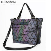 Matte BaoBao Bag Geometry Sequins Mirror Saser Plain Folding